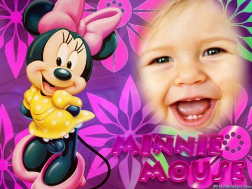 Fotomontaje de minnie mouse
